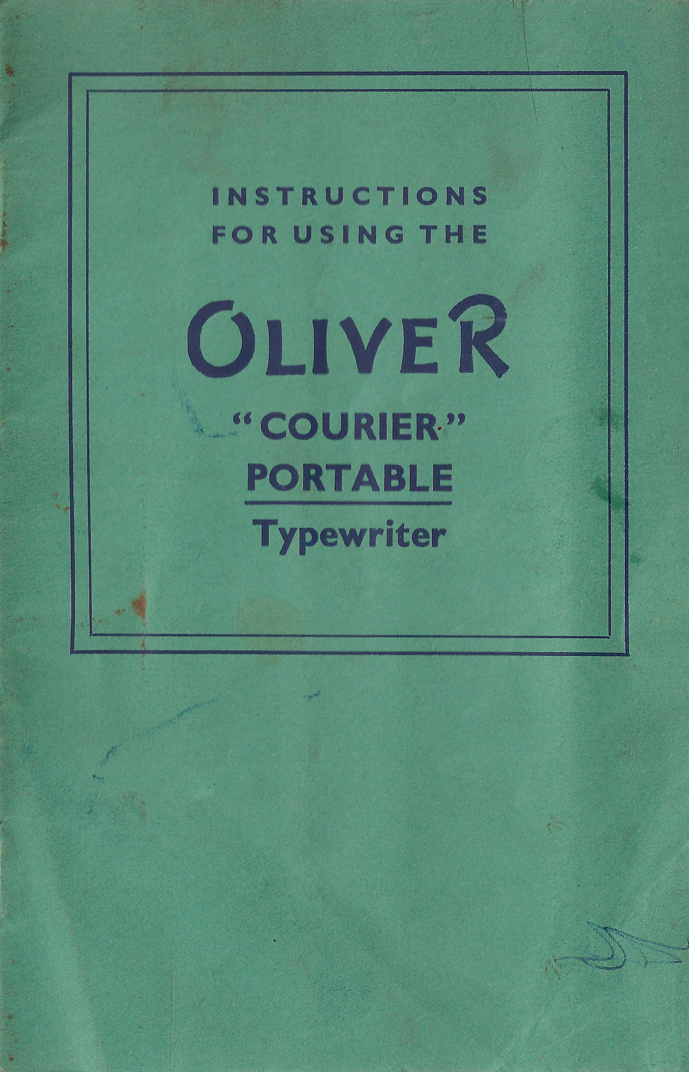 Oliver Courier Portable Instructions
