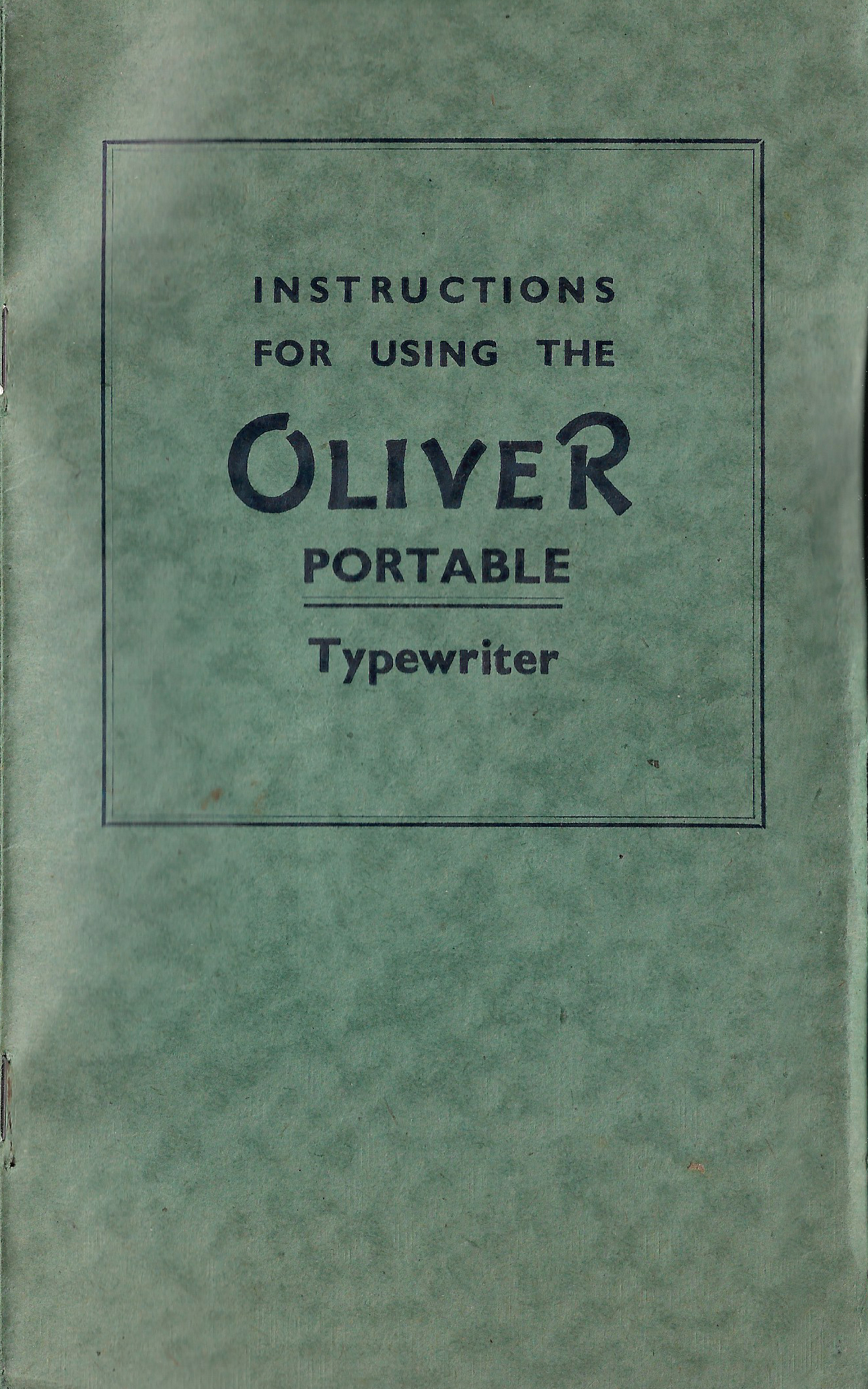 Oliver Portable Instructions