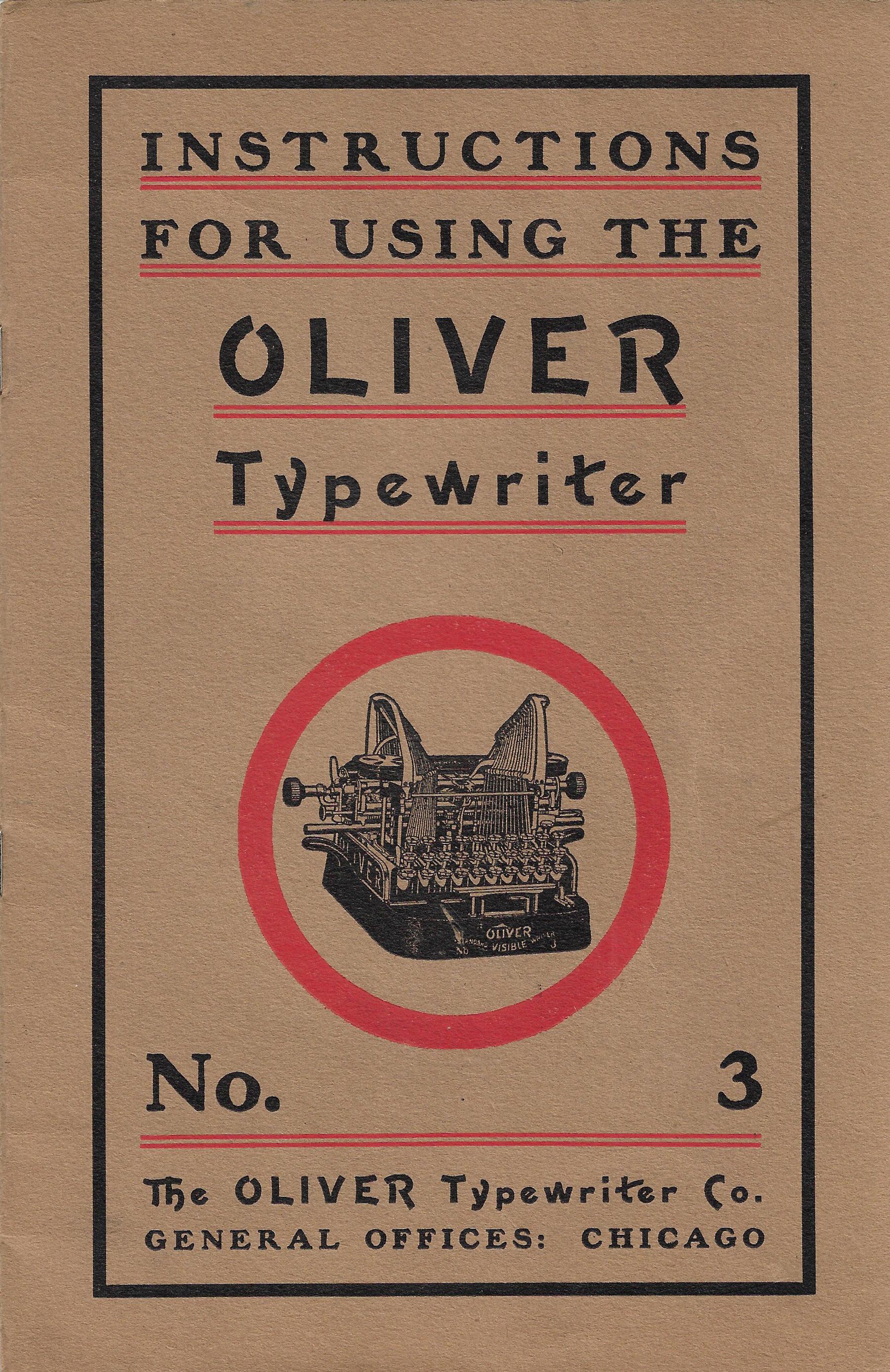 Oliver No. 3 Intstruction Manual